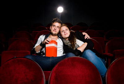 Просмотр романтического фильма