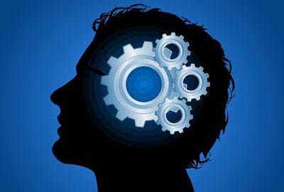 Голова человека с работающим мозгом
