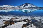 Озеро на горе Охос-дель-Саладо