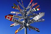 указатель разные стран